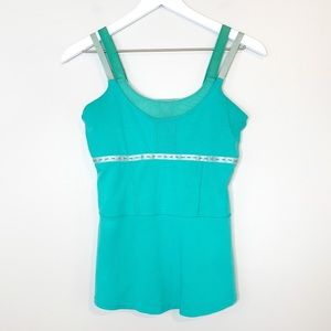 Lululemon Blue Workout Built in Bra Tank Top